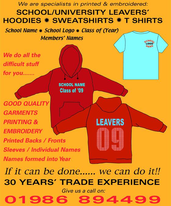 custom tees leavers shirts