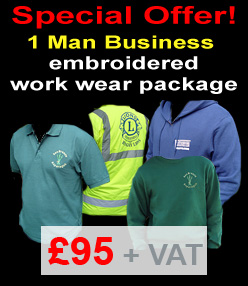 embroidered work wear package